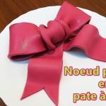 Noeud papillon en pâte à sucre