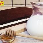 Gâteau tranche au lait