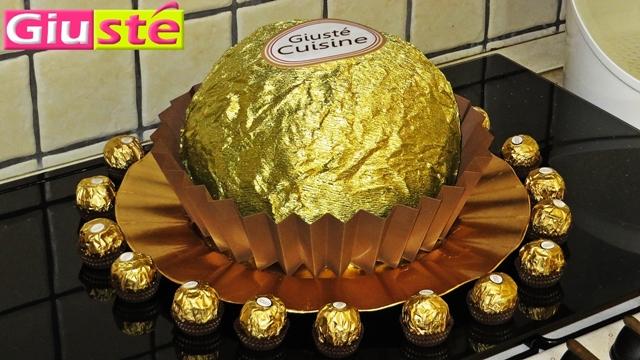 Gâteau facon Ferrero Rocher géant