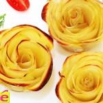 roses en pommes de terre