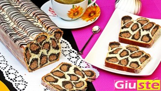 Cake brioche léopardé
